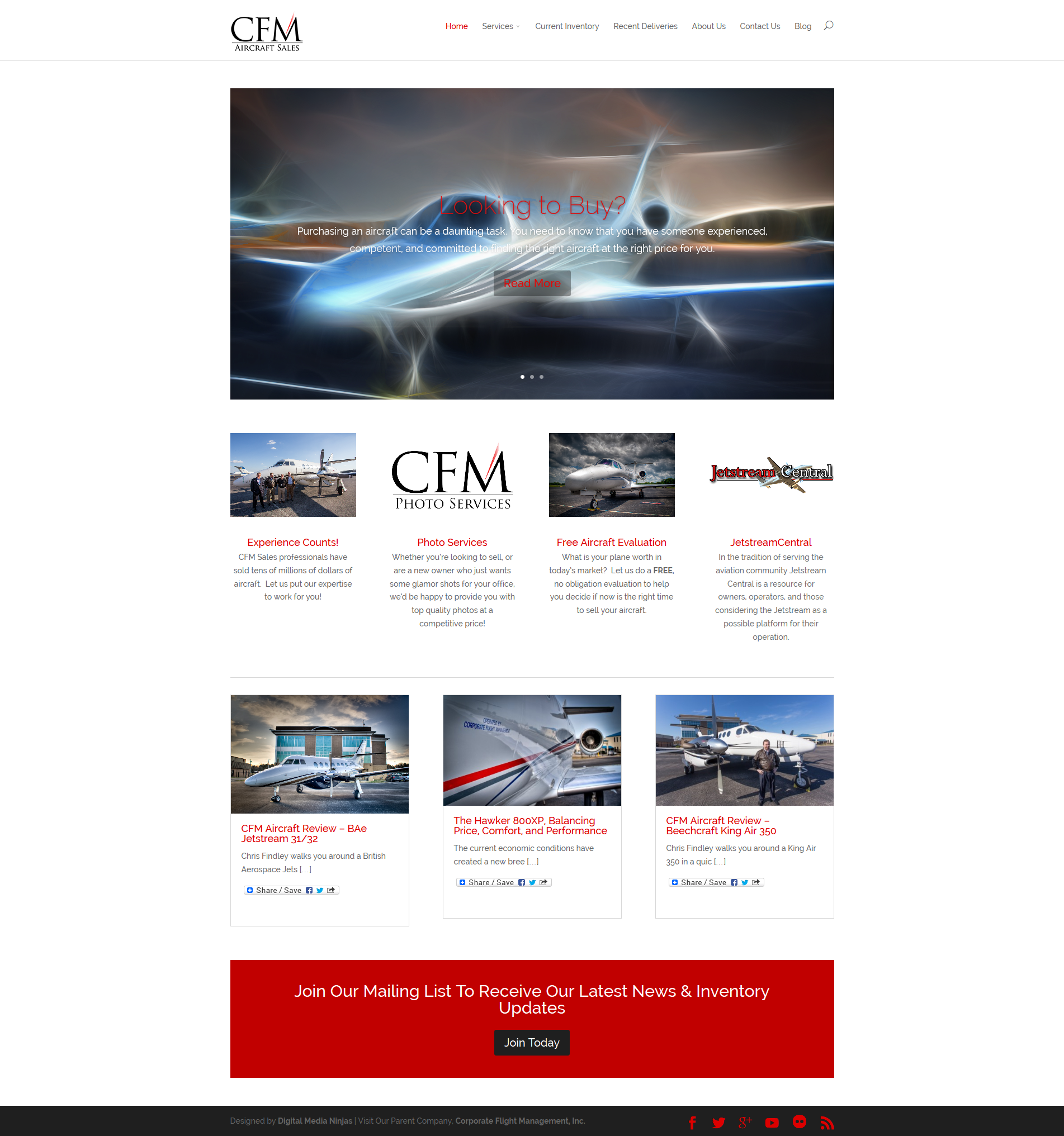 CFM Aircraft Sales Home Page